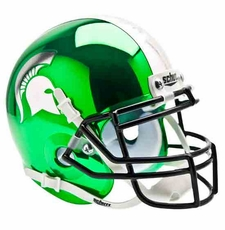 Michigan State Spartans Chrome Schutt Authentic Mini Helmet