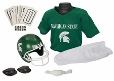 Michigan State Spartans Deluxe Youth / Kids Football Helmet Uniform Set