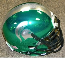 Michigan State Spartans Green Chrome Schutt XP Authentic Mini Helmet