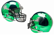 Michigan State Spartans Green Chrome Schutt XP Full Size Replica Helmet