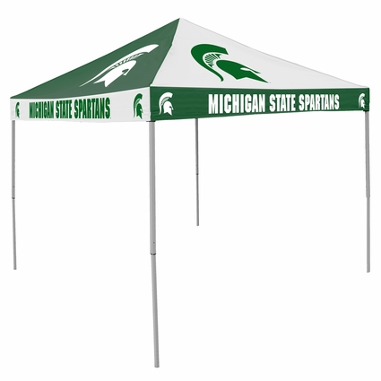 Michigan State Spartans Green / White Checkerboard Logo Canopy Tailgate Tent