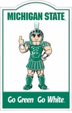 Michigan State Spartans Nostalgic Metal Sign