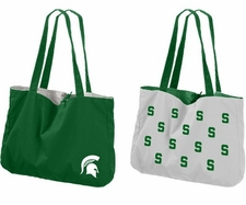 Michigan State Spartans Reversible Tote Bag