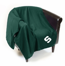 Michigan State Spartans Sweatshirt Throw Blanket