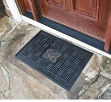 Michigan Wolverines 19x30 Medallion Door Mat