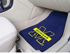 Michigan Wolverines 2-Piece Carpeted Car Mats Front Set