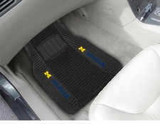 Michigan Wolverines 2-Piece Deluxe Car Mats