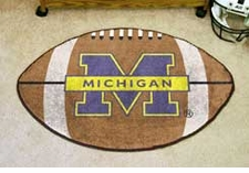 "Michigan Wolverines 22""x35"" Football Floor Mat"