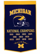 Michigan Wolverines 24 x 36 Football Dynasty Wool Banner
