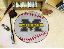 "Michigan Wolverines 27"" Baseball Floor Mat"