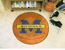 "Michigan Wolverines 27"" Basketball Floor Mat"