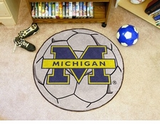 "Michigan Wolverines 27"" Soccer Ball Floor Mat"