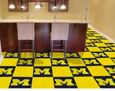 Michigan Wolverines Carpet Tiles - 20 18x18 Square Tiles
