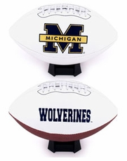 Michigan Wolverines Full Size Signature Embroidered Football