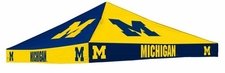 Michigan Wolverines Navy / Yellow Checkerboard Logo Tent Replacement Canopy