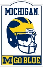 Michigan Wolverines Nostalgic Metal Sign