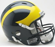 Michigan Wolverines Riddell Revolution Authentic Helmet