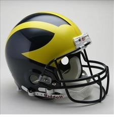 Michigan Wolverines Riddell Pro Line Authentic Helmet