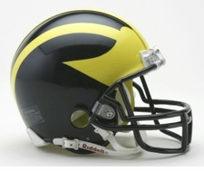 Michigan Wolverines Riddell Replica Mini Helmet