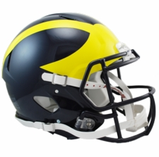 Michigan Wolverines Riddell Revolution Speed Authentic Helmet