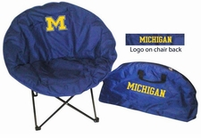 Michigan Wolverines Round Sphere Chair