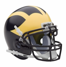 Michigan Wolverines Schutt Authentic Mini Helmet