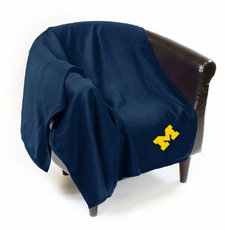 Michigan Wolverines Sweatshirt Throw Blanket