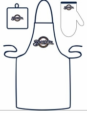 Milwaukee Brewers Cooking / Grilling Apron Set
