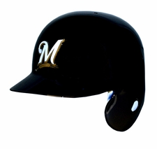 Milwaukee Brewers Left Flap Rawlings Authentic Batting Helmet