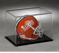 Mini Helmet Display Case with Clear Dome