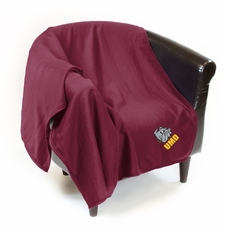 Minnesota-Duluth Bulldogs Sweatshirt Throw Blanket
