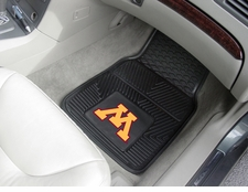 Minnesota Golden Gophers 2-Piece Heavy Duty Vinyl Car Mat Set