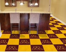 Minnesota Golden Gophers Carpet Tiles - 20 18x18 Square Tiles