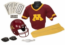 Minnesota Golden Gophers Deluxe Youth / Kids Football Helmet Uniform Set
