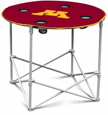 Minnesota Golden Gophers Round Tailgate Table