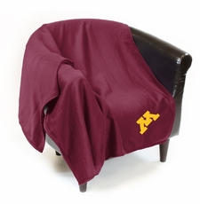 Minnesota Golden Gophers Sweatshirt Throw Blanket