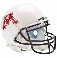 Minnesota Golden Gophers White Schutt Authentic Mini Helmet