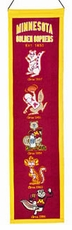 Minnesota Golden Gophers Wool 8x32 Heritage Banner