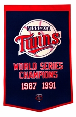 Minnesota Twins 24x36 Wool Dynasty Banner