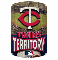 Minnesota Twins Wood Sign