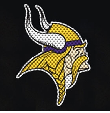 Minnesota Vikings 12 x 12 Die-Cut Window Film Decal