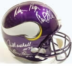 Minnesota Vikings Autographed Football Gear