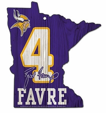 Minnesota Vikings Brett Favre Wood Sign