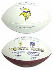 Minnesota Vikings Embroidered Autograph Signature Series Football