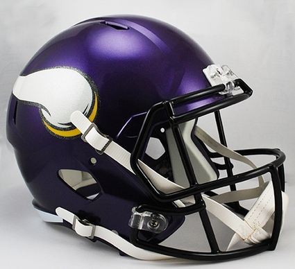 Minnesota Vikings Full-Size Deluxe Replica Speed Helmet