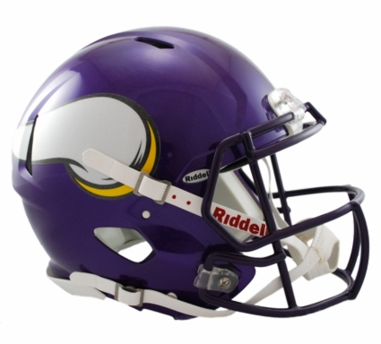 Minnesota Vikings 2006-12 Revolution Speed Riddell Authentic Helmet