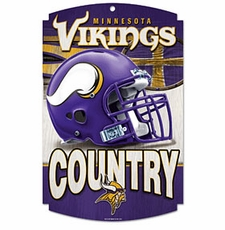 Minnesota Vikings Wood Sign