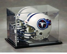 Mirrored Back Mini Helmet Display Case