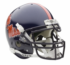 Mississippi Rebels Schutt Authentic Full Size Helmet