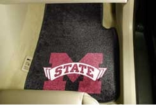 Mississippi State Bulldogs 2-Piece Carpeted Car Mats Front Set